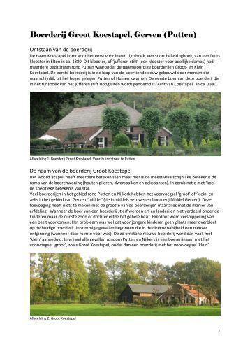 Artikel Groot Koestapel - Historisch Geografische Artikelen