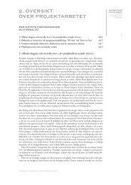 2. ÖVERSIKT ÖVER PROJEKTARBETET - Pedagogiska Resurser
