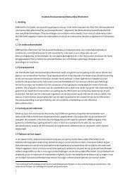 Eindnota DNB Themaonderzoek Bestuurlijke Effectiviteit ... - Spo