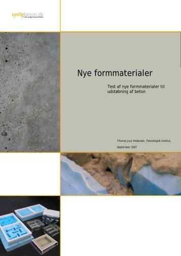 Nye formmaterialer - synligbeton.dk