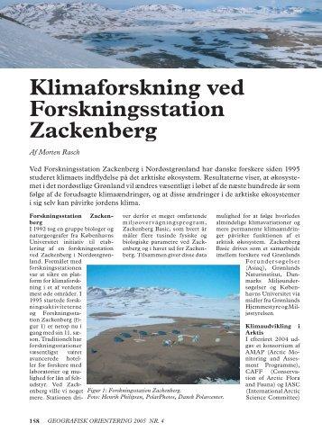 Klimaforskning ved Forskningsstation Zackenberg