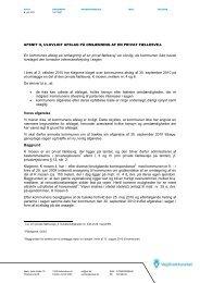 10-12521 Afsnit II ulovligt afslag på omlægning af ... - Vejdirektoratet
