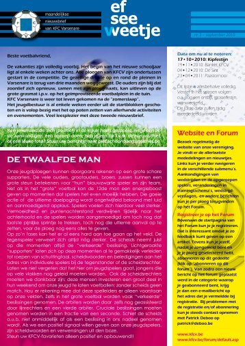 DE twAAlFDE mAN - KFC Varsenare