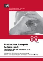 60 'De waarde van strategisch basisonderzoek' - IWT