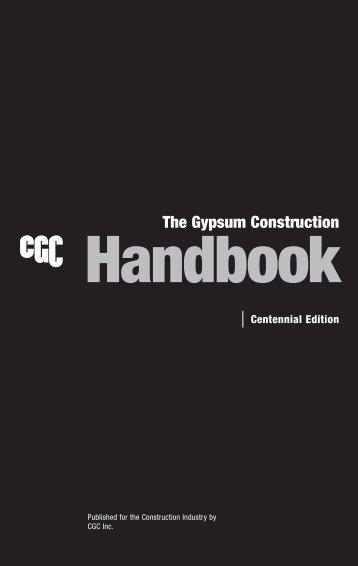 The Gypsum Construction Handbook - CGC