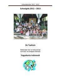 Schoolkalender 2012 - 2013 - Stichting Nederlands Onderwijs in het ...