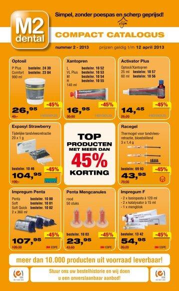 meer dan 10.000 producten uit voorraad leverbaar ... - Over M2 Dental