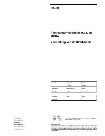 Diefdijk m.e.r. en MKBA eindrapportage - Belvedere