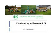 Forældre- og spillermøde F/S - KlubCMS