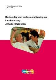 Deskundigheid, professionalisering en ... - Zorg Basisboeken