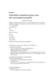 Indicatief modelformulier voor een vermogensaangifte