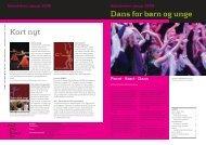 Artikel fra Dansens Hus nyhedsbrev (januar 2008) - Dans for Børn