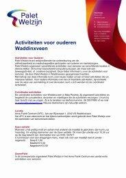 folder overzicht activiteiten AFC 2013 - Palet Welzijn