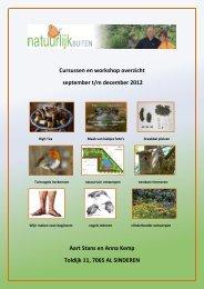 Cursussen en workshop overzicht september t/m ... - NatuurlijkBUITEN