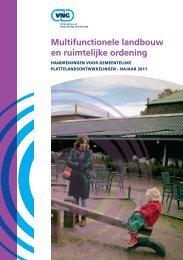 Multifunctionele landbouw en ruimtelijke ordening - Vereniging van ...