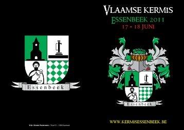 Vlaamse Kermis Essenbeek - Sponsorboekje 2011