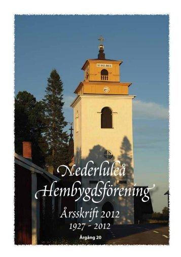 Nederluleå Hembygdsförening Årsskrift 2012 1927