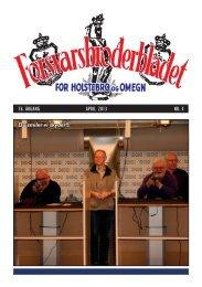 April 2013 - De danske Forsvarsbrødre for Holstebro og Omegn