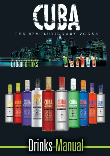 Drinks Manual - CUBA Vodka