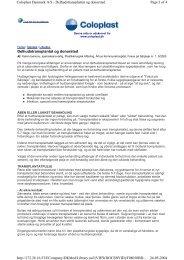 Delhudstransplantat og donorsted Page 1 of 4 Coloplast Danmark A ...
