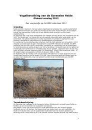 Vogelbevolking van de Gorsselse Heide in 2012 - Vogelwerkgroep ...