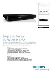 BDP2930/12 Philips Blu-ray Disc/DVD-speler - Flixfacts.com