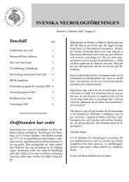 Nr 2, 2007 Årgång 12 - Svenska Neurologföreningen