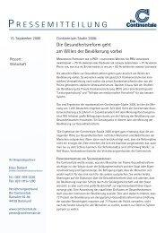 Pressemitteilung als PDF - Continentale