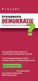 ausführliche Programmübersicht - Steinbruch Demokratie