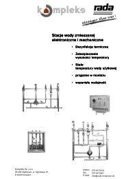 Stacje wody zmieszanej - Instalacje przemysłowe
