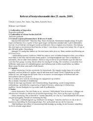 Referat af bestyrelsesmødet den 25. marts, 2009. - Ubberud IF