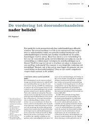 De vordering tot dooronderhandelen nader belicht - Van Benthem ...
