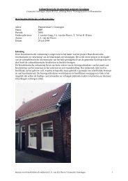 Pluimerstraat 3 verkenning, Van der Hoeve 2004 - Gemeente ...