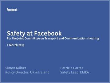 Presentation by Facebook 7 March 2013