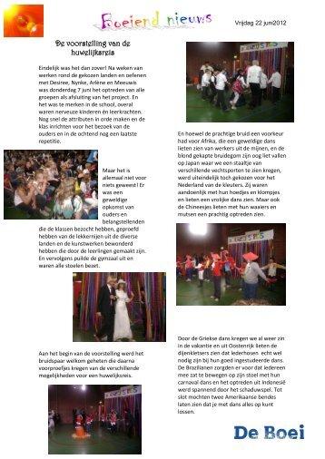 Boeiend nieuws 22 juni 2012 - De Boei