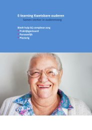 E-learning Kwetsbare ouderen