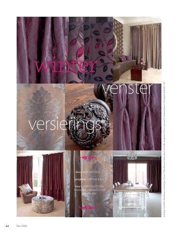 venster versierings - Curtain Call Interiors