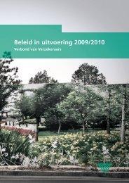 Beleid in uitvoering 2009/2010 - Verbond van Verzekeraars