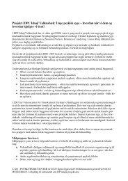 Projekt i DPC Ishøj/ Vallensbæk: Unge psykisk syge – hvordan når ...