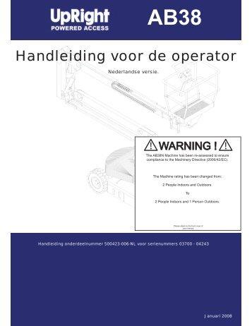 Handleiding voor de operator - Z-Rent