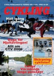 Läs Cykling nr:4-05 här (pdf-fil, 9Mbyte) - Cykelfrämjandet