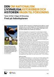 Fred på fotbollsplanen.pdf - Forum för levande historia