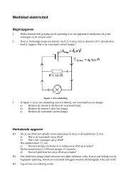 Werkblad elektriciteit