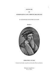 Calvijn Institutie Boek IV - Gekrookte Riet