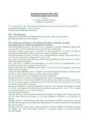 Referat fra ordinær generalforsamling torsdag d. 8. marts 2007. Pr. 8 ...