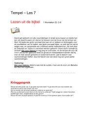 Tempel – Les 7 Lezen uit de bijbel 1 Kronieken 22 ... - Bijbelverhalen