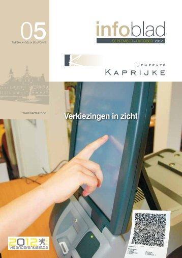 infoblad september - oktober 2012 - Gemeente Kaprijke