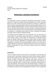 Working Paper 1: Sustainable Travel Behaviour - Geography ...