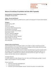 Referat af workshop: De politiske mål efter MDG Topmødet