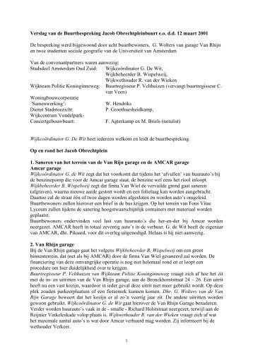 Buurtschouw Jacob Obrechtbuurt e - Wijkcentrum Vondelpark ...